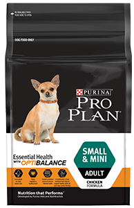 Dog food for small and mini puppies
